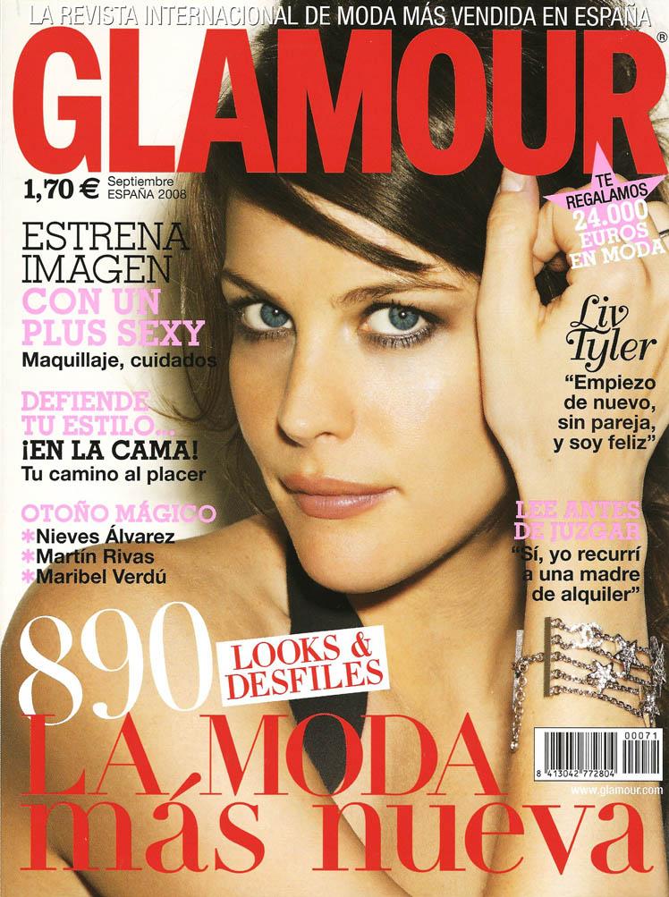 C Magazine (June).  UK's Harper's Bazaar (October).  Spanish Glamour Cover, Photograph by Cliff Watts.
